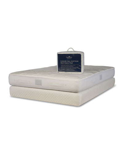 Luxury All Cotton Mattress Pad - California King  and Matching Items