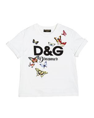 0bd748a35 Dolce & Gabbana D&G Dreamer Butterfly Graphic Tee, Size 4-6 D&G Dreamer  Butterfly
