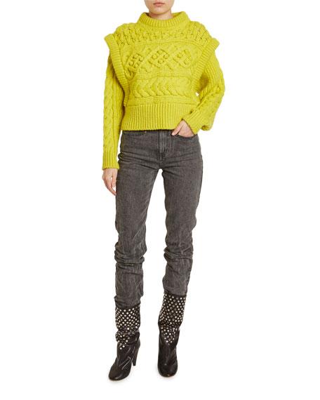 Isabel Marant Milane Cable-Knit Trompe-L'Oeil Sweater