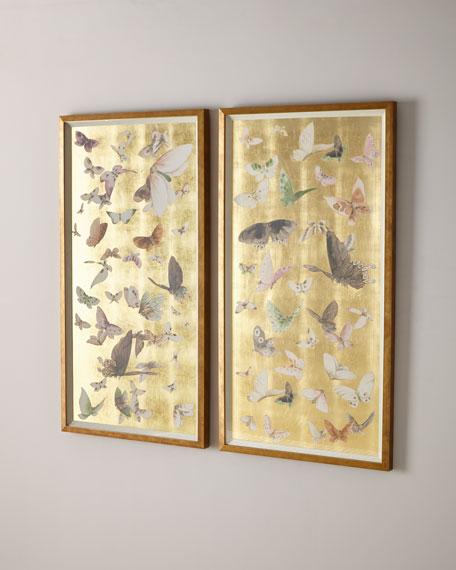 """""""Gilded Butterfly Flight II"""" Giclee Art"""