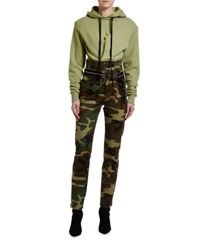 Pintucked Hoodie Sweatshirt  and Matching Items