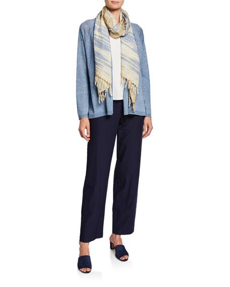 Eileen Fisher Plus Size Organic Linen Delave Cardigan