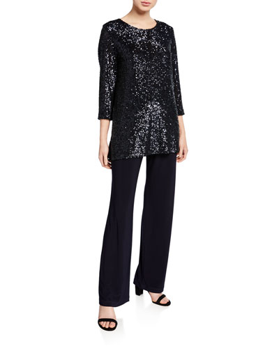 Sequin 3/4-Sleeve Tunic and Matching Items