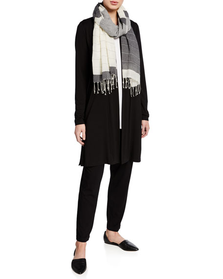 Eileen Fisher Open-Front Jersey Straight Cardigan