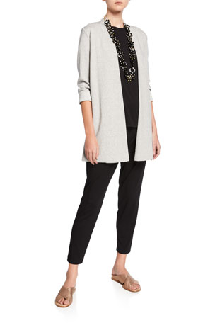 Eileen Fisher Plus Size Short-Sleeve Lightweight Jersey Top Plus Size Slim Slouchy Ankle Pants