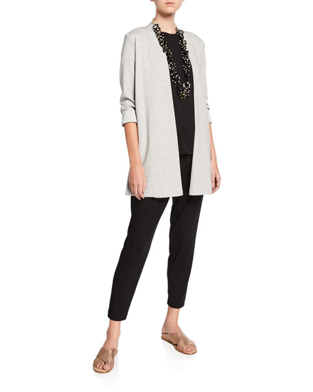 Eileen Fisher Plus Size Herringbone Jacket with Side Slit