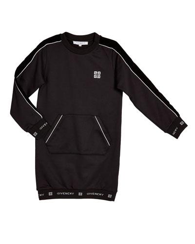 Girl's Logo Trim Dress w/ Kangaroo Pocket  Size 4-10  and Matching Items