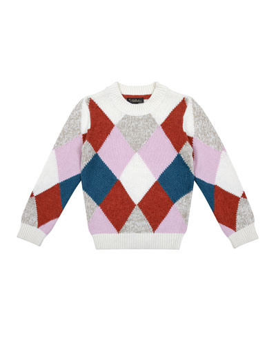 Meredith Multicolored Argyle Knit Sweater  Size 6-8  and Matching Items