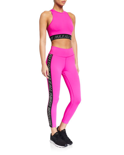 Side-Stripe 7/8 Active Leggings and Matching Items