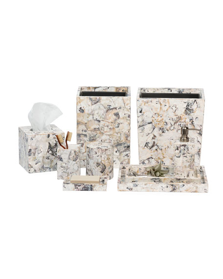 Pigeon and Poodle Tramore Natural Laminated Tissue Box Cover
