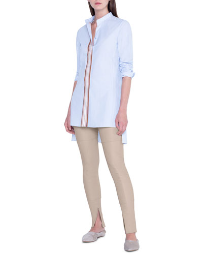 Striped Button-Front Tunic and Matching Items