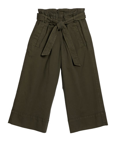 Girl's Wide Leg Tie Waist Pants  Size 8-10  and Matching Items
