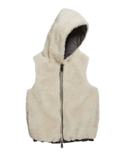 Girl's Reversible Nylon Shearling Hooded Vest  Size 12  and Matching Items
