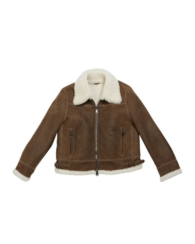 Girl's Shearling Zip Front Jacket w/ Monili Trim  Size 12 and Matching Items
