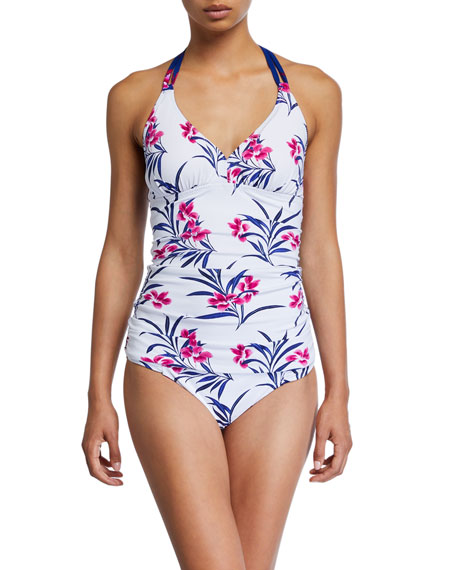 Tommy Bahama Oasis Blossoms Reversible Halter Tankini Swim Top