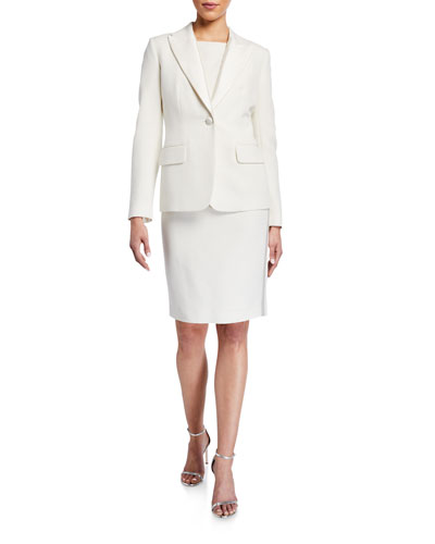 Tuxedo Faille Jacket with Mikado Lapel and Matching Items