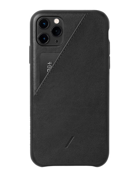 Native Union Clic Card Protective Leather Case for iPhone 11 Pro Max