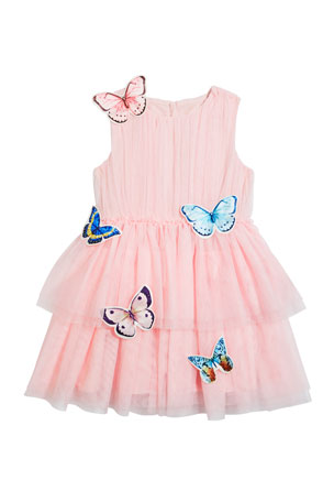 Charabia Girl's Isabella Tulle Butterfly Dress, Size 4-5 Girl's Isabella Tulle Butterfly Dress, Size 6-12