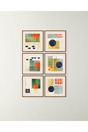 "Paragon Decors ""Soleil Rouge II"" Art Print ""Soleil Rouge IV"" Art Print"