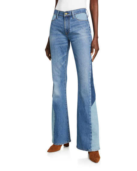 Image 1 of 4: Le High Flare Diagonal Block Jeans