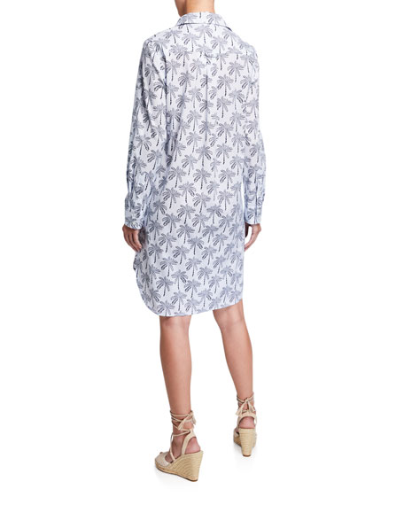 Image 3 of 3: Finley Plus Size Alex Desert Palm Button-Front Shirtdress w/ Convertible Sleeves