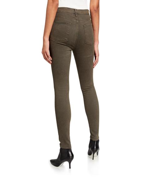FRAME Ali High-Rise Sateen Skinny Jeans