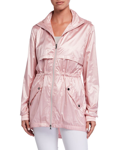 Anatomie Alana Metallic Wind-Resistant Hooded Jacket
