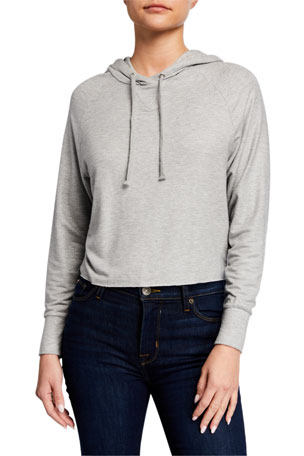 Majestic Filatures Metallic Long-Sleeve Pullover Hoodie Jacket