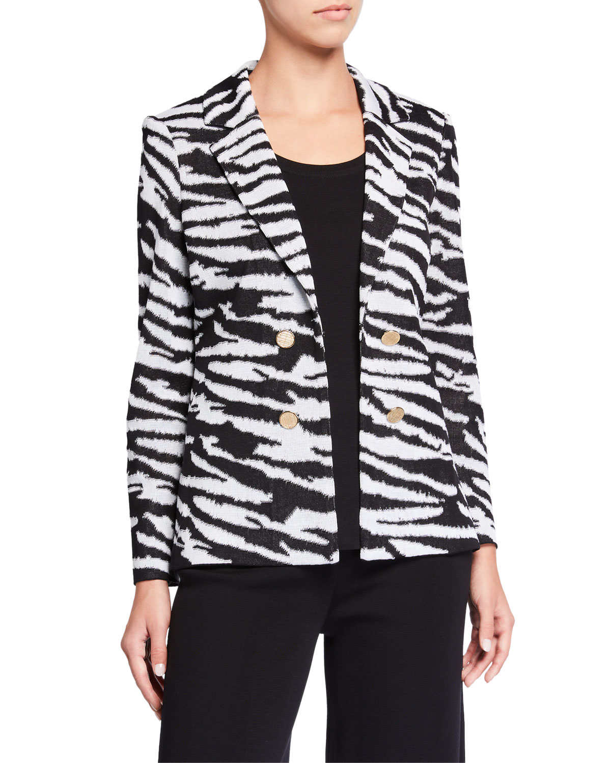 Misook Plus Animal Print Jacket