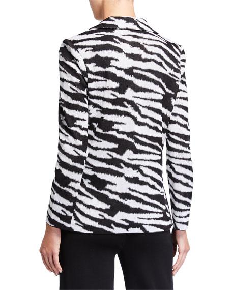 Misook Classic Animal Print Jacket