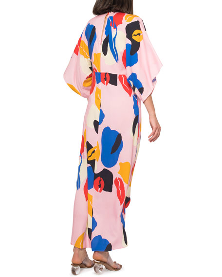 Image 3 of 4: Jaline Katherine Abstract High-Low Maxi Dress