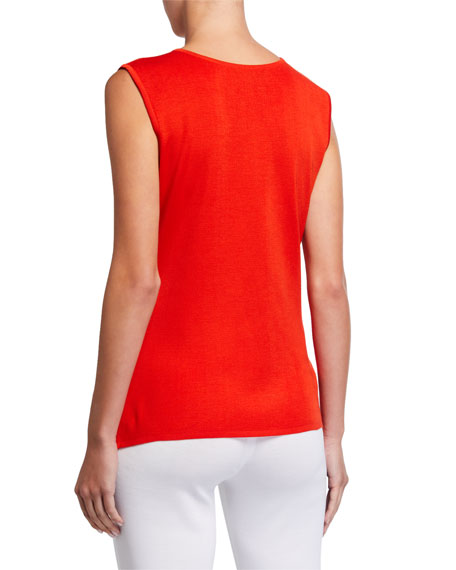 Image 3 of 3: Misook Classic Scoop-Neck Tank