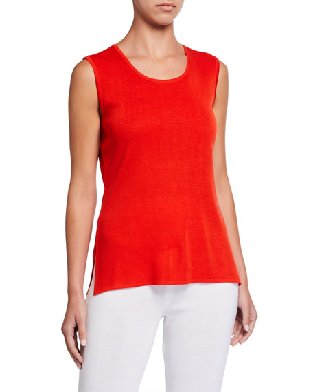 Image 1 of 3: Misook Classic Scoop-Neck Tank