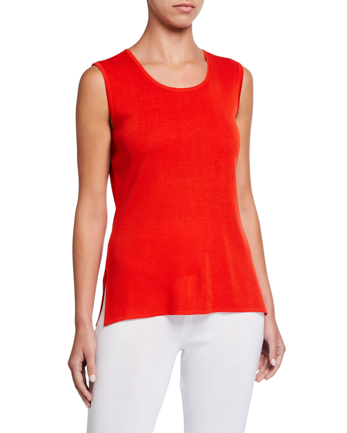 Misook Classic Scoop-Neck Tank