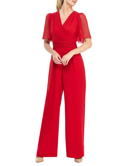 Gal Meets Glam Collection Petite Novelty Cocktail Jumpsuit