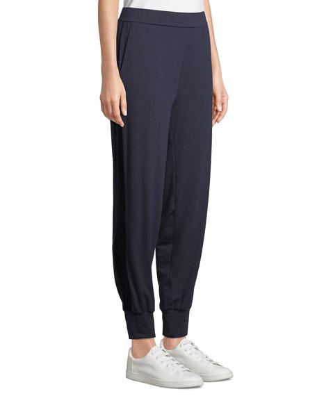 Eileen Fisher Velvet Side-Stripe Terry Track Pants