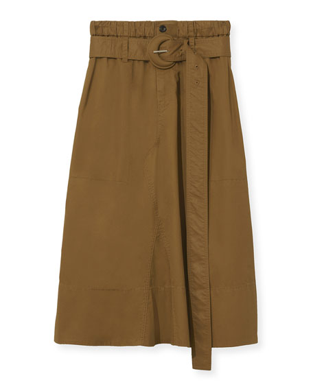 Image 2 of 3: Proenza Schouler White Label Belted Drawstring Cotton Skirt