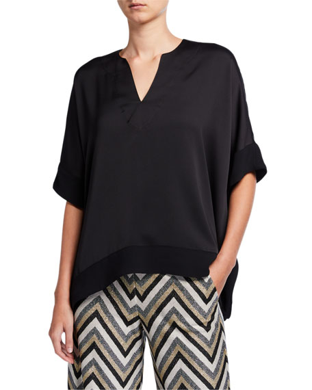 Trina Turk Chiyo V-Neck Short-Sleeve Top