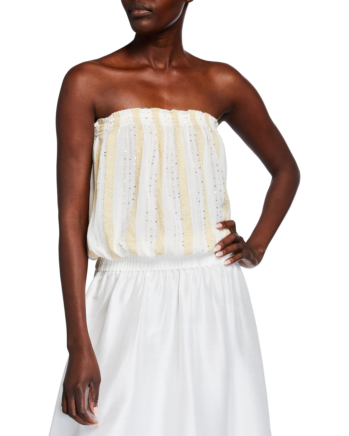 Ramy Brook Yanni Sequined Coverup Top