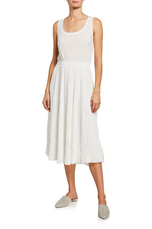 Vince Pleated Scoop-Neck Tank Dress