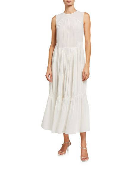 Image 1 of 4: Shirred Sleeveless Tiered Dress