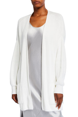 Max Mara Leisure Cotton Belted Long-Sleeve Cardigan
