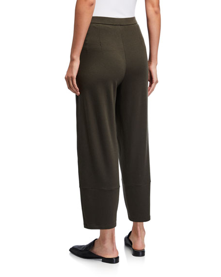 Eileen Fisher Stretch Terry Lantern Ankle Pants