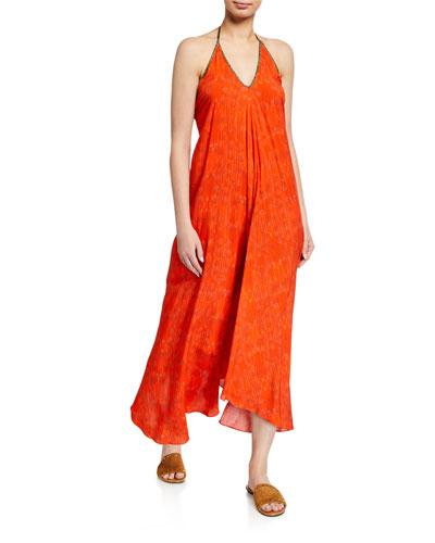 Rhodes Printed Halter Coverup Dress