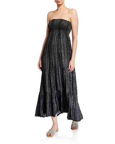 Gaia Smocked Coverup Dress