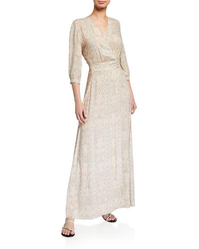 Athena Printed Wrap Coverup Dress