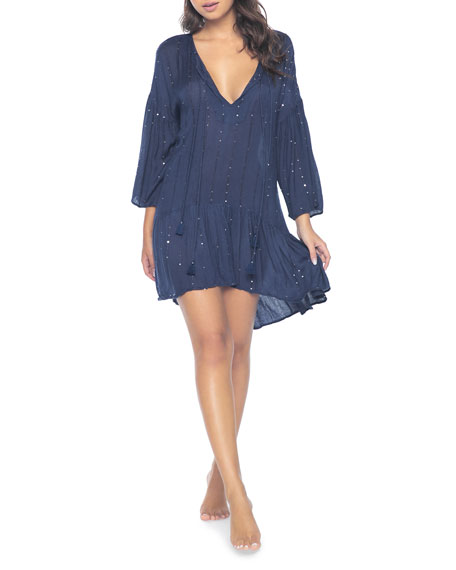 PilyQ Angelica Sequined Tunic Coverup