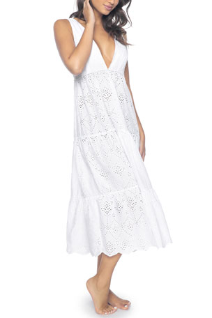 PQ Swim Anne Eyelet Coverup Dress