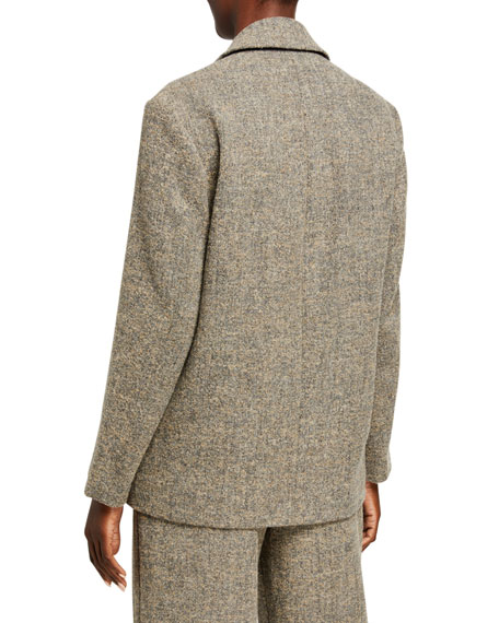 Vince Pebble Texture Double-Breasted Jacket