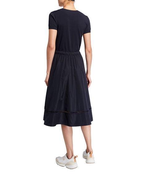 Moncler A-Line Logo Stripe Dress
